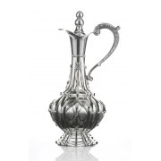 Hadad Sterling Silver Wine Decanter with Handle - Flower Lattice design