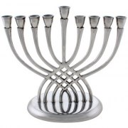 Hammered Aluminum Tree Branch Hanukkah Menorah