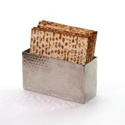 Hammered Silver Upright Matzah Holder