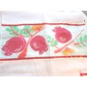 Hand Painted Pomegranates Tallit Prayer Shawl by Galilee Silks