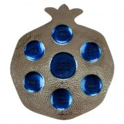 Hannered Aluminium Pomegranate Shaped Passover Seder Plate