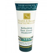 H&B Dead Sea Minerals Refreshing Foot Cream Deodarant, 100 ml tube
