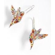 Hummingbird Pendant Earrings by Adina Plastelina