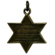 IDF and Hamsa, Star of David Necklace