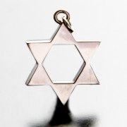 Idit - Sterling Silver Star of David Filled Points Pendant - Small