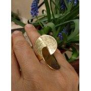 Blessing for Success interlock Circles Jewish Ring