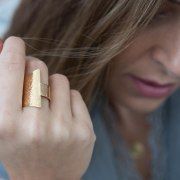 Ani Ledodi Prayer Silver Ring