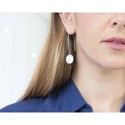 Women Of Valor Silver Hanging Earrings