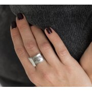 72 Names Of God Silver Fashion Ring
