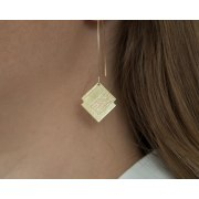 72 Names of God Silver Hanging Earrings