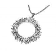 Yoel Jewelry Sterling Silver Jerusalem Circle Pendant