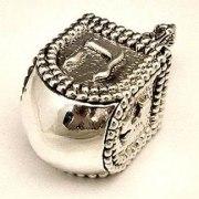 Sterling Silver Cubic Dreidel Dots Design