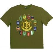 Israeli Army T-Shirt - Zahal I.D.F Logo and Unit Tags (Men)