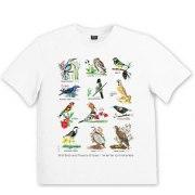 Israeli T Shirt Birds and Flowers of Israel