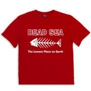 Israeli T Shirt  Dead Sea Skeleton Fish