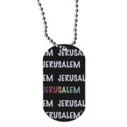 Jerusalem Dog Tag Necklace