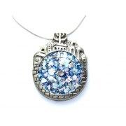 Jerusalem Skyline Sterling Silver and Roman Glass Necklace