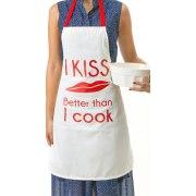 Jewish Apron I Kiss Better Than I Cook