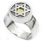 Kabbalah 5 Metals, Star of David Ring