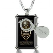 Kabbalah 10 Spheres Onyx and Silver Nano Jewelry