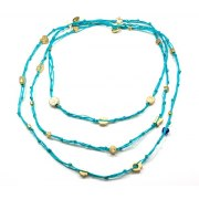 Knots String with Gold Plated Good Luck Charms