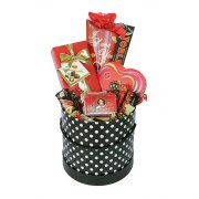 Lady in Red Gift Basket