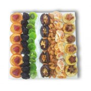 Large Square Assorted Dried Fruit and Nut Platter