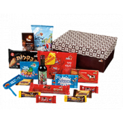 Large Sweets Box and Wine Purim Mishloach Manot Package