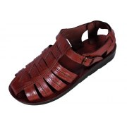 Leather Covered-Toe Fisherman Style Biblical Sandals - Zebulun