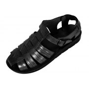 Leather Covered-Toe Fisherman Style Handmade Biblical Sandals - Zebulun