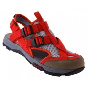 Leather & Mesh Ibex Womens Source Sandal Red