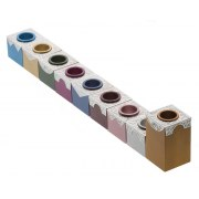 Lev Shneiderman Aluminum Colorful Blocks Hanukkah Menorah