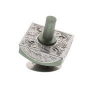 Lev Shneiderman Mint Green Square Aluminum Hanukkah Dreidel