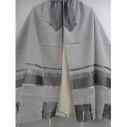Light Grey Viscosa Tallit Prayer Shawl