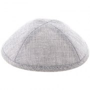 Linen Grey Kippah with Pin Spot