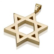 14K Gold Classic Design, Star of David Necklace