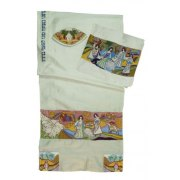 Matriarchs Appliqué White Silk Rikmat Elimelech Tallit