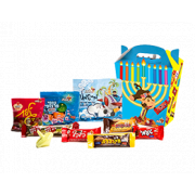 Menorah Pack of Treats and Chocolates, Hanukkah Gift Baskets