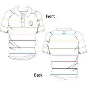 Mens Striped Polo Shirt for 2011 European Maccabi