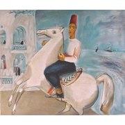 Nahum Gutman - White Horseman - Israel Art