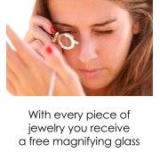 Ana BeKoach Onyx Stone and Silver Frame Nano Jewelry