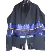 Navy Blue Wool Tallit Prayer Shawl
