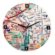Old of Jerusalem Map, Wall Clock
