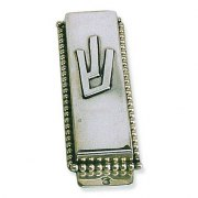 Pearl Ornaments and Letter Shin Small Mezuzah Case