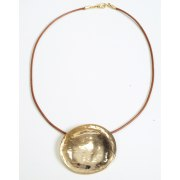 Polished Silver or Gold Plate Disc Pendants - Anava Jewelry