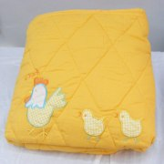 Polyester filled embroidered summer weight baby blanket, Pinat Eden