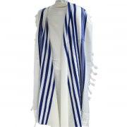 Prima AA Wool with Blue Stripes, Tallit