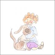 Puppy Love' Personalized Ceramic Nameplate