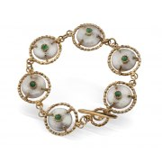Queen Helene Gold Plated Silver Bracelet, Jewish Jewelry