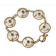 Queen Helene Gold Plated Silver Bracelet, Jewish Jewelry